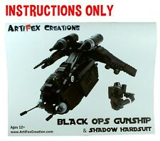 INSTRUCTIONS ONLY Custom Black OPs Gunship Lego Star War 7676 Republic Attack