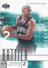 Shane Battier DUKE 2001-02 Upper Deck Flight Team RC /375