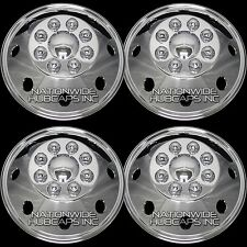 "CHROME Chevy GMC 16"" 8 Lug Dual Wheel Simulators Dually Rim Skins Liners Covers"