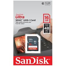 SanDisk Ultra 16 GB SDHC SDXC SD Class 10 48MB/s 320x Flash Memory Card Camera