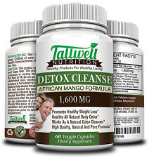 Best African Mango Colon Detoxifying Cleanse Capsules, Digestion, Weight Loss.