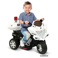 Ride On Toy Police Bike Kids Electric Cars Toddler Motorcycle Garden Yard Play
