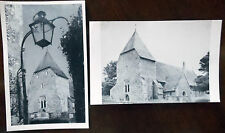 West Dean, All Saints Parish Church, Real Photograph Unposted Postcards x 2.