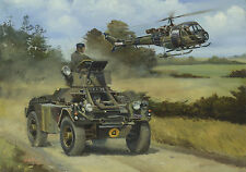 Daimler Ferret Westland Scout car helicopter BAOR military vehicle Card