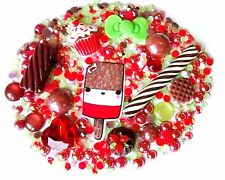 kawaii fab lolly fake candy flake food cabochons deco set decoden phone case cab