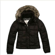Abercrombie & Fitch Corrine Faux Fur Down Jacket Brown $200 XS