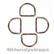 4 x 50mm Metal welded D Ring Buckles for Webbing