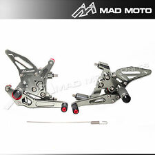 Full Adjustable Rear sets Foot pegs  Ducati Panigale 899 1199 1199 R S grey
