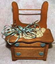 Doll House Furniture Miniature Kitchen Cabinet Rack Country Cottage Decor Hearts