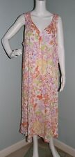 NWT Womens Ralph Lauren Sleeveless Full Length Night Gown Sz M Medium