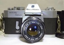 Bell Howell Auto 35 Reflex 35mm film camera with Canon 50mm f1.8 EX lens tested