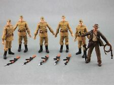 FREE SHIP Lot 5 Pcs New Russian Soldiers Troopers & Indiana Jones Figure N9