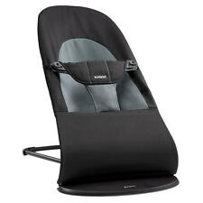 NIB BabyBjorn Bouncer Balance Soft Black/Dark Gray Cotton FREE GIFT LOOK!!