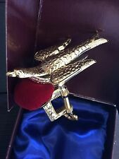 Victorian Trading Co Antique Style Brass Sewing Bird Pin Cushion