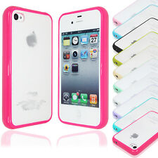 Wholesale 10pcs/lot TPU Bumper Case Cover W/ Matte Back for iPhone 4S (10 Color)