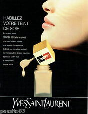 PUBLICITE ADVERTISING  016  1993  YVES SAINT LAURENT  maquillage fond de teint