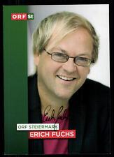 Erich Fuchs ORF Autogrammkarte Original Signiert ## BC 52155