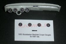 1953 STUDEBAKER STARLINER COUPE GAUGE FACES!! for 1/25 scale AMT KITS