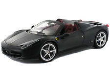 Hot Wheels Elite X5458 1:18 Ferrari 458 Italia Spider Convertible Matt Black