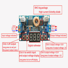 5A Digital Control Power Supply DC-DC Step-Down Charge Module LED  Voltmeter