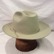 Silverbelly Stetson with SIlverbelly RIbbon Men's Fedora Vintage Hat- Size 7 1/8
