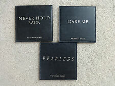 BNWT Victorias Secret Set Of 3 Faux Leather Coasters Fearless Dare Me