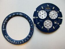 Breitling Jupiter reveil ref. A59028 blue / silver watch dial and tachy-ring