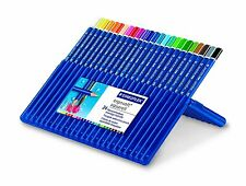 STAEDTLER ERGO SOFT AQUARELL WATER-SOLUBLE COLOURING PENCILS - WALLET of 24