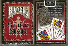 Stick Man Deck Bicycle Playing Cards Poker Size USPCC Limited Edition New Sealed