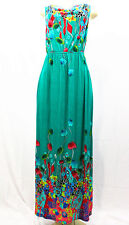 7011 Floral-Women-Long-Maxi-summer-beach-hawaiian-Boho-casual-sundress-L TEAL