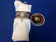 White/Sky Blue Houston Oilers Printed Crew Socks ONE SIZE Piranha Records
