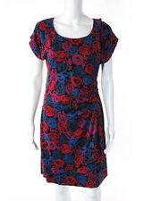 MARC BY MARC JACOBS Multi Color Floral Print Short Sleeve Pencil Dress Sz XS