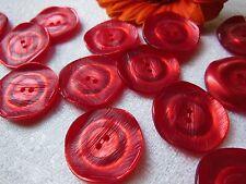 lot 8 jolis boutons anciens vintage rouge relief lumineux diamètre: 2,2 cm R 726