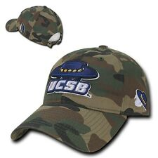 Camo UC Santa Barbara Gauchos UCSB Cotton Polo Style Low Crown Baseball Cap Hat
