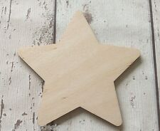♥♥ set of 10 laser cut wooden stars ♥♥ unpainted no holes, Christmas decorations