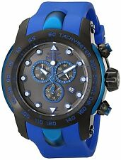 18028SYB Pro Diver Black SS Watch with Blue Silicone Band