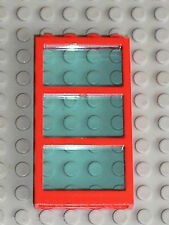 LEGO Red Window with TrLtBlue Glass 6160c03 / set 4556 6543 7993 4117 & 4176