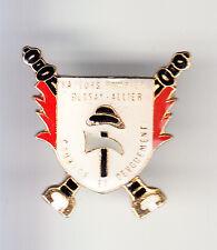RARE PINS PIN'S .. POMPIER FIRE POMPE LANCE HACHE BESSAY 03 ~BM