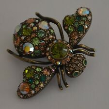 JOAN RIVERS  PRISMATIC CRYSTAL BEE PIN BROOCH - ORIGINAL VERSION -MINT CONDITION