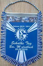 FC Schalke 04 + Riesen Wimpel Banner 28x22 cm + SFCV + Mönchengladbach 25.09.10