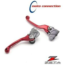 Zeta CNC Rojo Flexible Palanca Kit Honda CRF250 2007 - 2017 CRF450 2007 - 2016