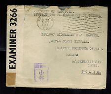 1943 Birmingham England Cover to Prisoner of War POW Tokyo Japan Red Cross Malay