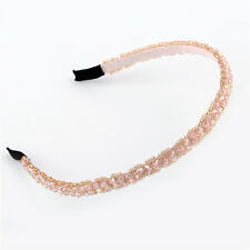 Pink Women's Accessories Bead Crystal Head Headband Head Piece Hair Bands