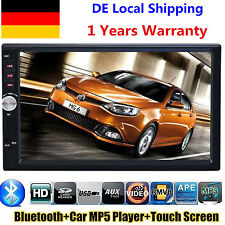 "2 DIN Autoradio 7"" Bluetooth Touch Screen MP3 MP5 Player Stereo Audio FM/USB/SD"