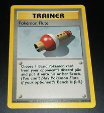 Pokemon Flute 86/102 Base Set Trainer EXCELLENT-PLAYED Pokemon Card