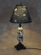 Mini Skull Desk Lamp bone shade Halloween Prop Skulls