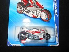 HOT WHEELS 2010 HW RACING #7 CANYON CARVER MOTORCYCLE HOTWHEELS HW WHITE VHTF