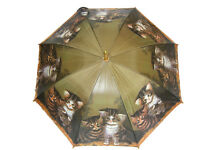 Tabby Kittens Design Quality Umbrella Vet Mother Dad Home Office Xmas Gift NEW