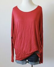 NWT Women's Scoop Neck Batwing Dolman Long Sleeve Tunic Knit Shirt Top Blouse L