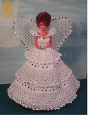 CROCHET FASHION DOLL PATTERN-ICS DESIGNS-193 ANGEL WITH A HEART